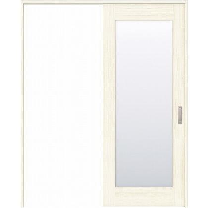 住友林業クレスト 引き戸 1枚ガラス ベリッシュホワイト柄 枠外W1463×枠外H2032 HBAUK25HAWC47J1S3L 内装建具 1セット