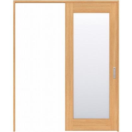 住友林業クレスト 引き戸 1枚ガラス ベリッシュオーク柄 枠外W1463×枠外H2300 HBAUK25HAAB48J1S3R 内装建具 1セット