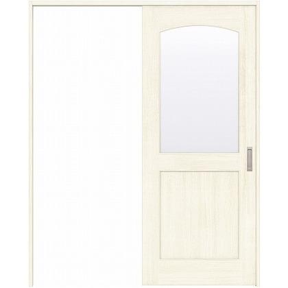 住友林業クレスト 引き戸 アールガラス ベリッシュホワイト柄 枠外W1463×枠外H2032 HBAUK27HAWD47J1S3R 内装建具 1セット