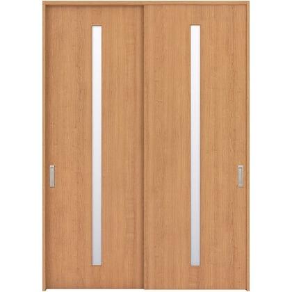 住友林業クレスト 引違い戸 スリット1枚ガラス縦目 ベリッシュチェリー柄 枠外W1645×枠外H2032 HBAUK02HACB67J2S3 内装建具 1セット