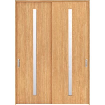住友林業クレスト 引違い戸 スリット1枚ガラス縦目 ベリッシュオーク柄 枠外W1645×枠外H2300 HBAUK02HAAC68J2S3 内装建具 1セット