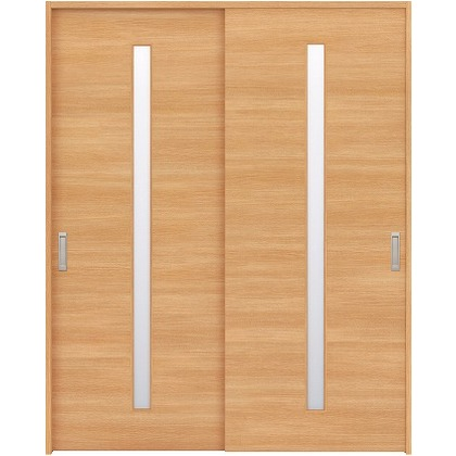 住友林業クレスト 引違い戸 スリット1枚ガラス横目 ベリッシュオーク柄 枠外W1645×枠外H2032 HBAUK03HAAE67J2S3 内装建具 1セット