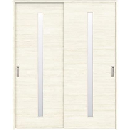 住友林業クレスト 引違い戸 スリット1枚ガラス横目 ベリッシュホワイト柄 枠外W1645×枠外H2032 HBAUK03HAW567J2S3 内装建具 1セット
