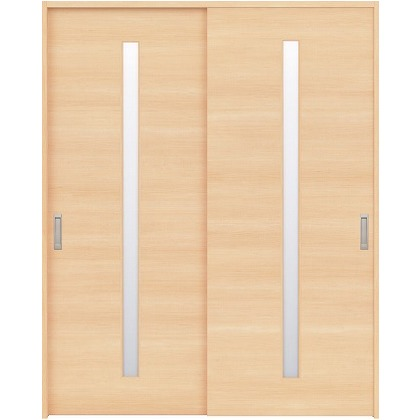 住友林業クレスト 引違い戸 スリット1枚ガラス横目 ベリッシュメイプル柄 枠外W1645×枠外H2032 HBAUK03HAM567J2S3 内装建具 1セット