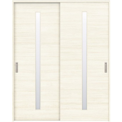 住友林業クレスト 引違い戸 スリット1枚ガラス横目 ベリッシュホワイト柄 枠外W1645×枠外H2300 HBAUK03HAW768J2S3 内装建具 1セット