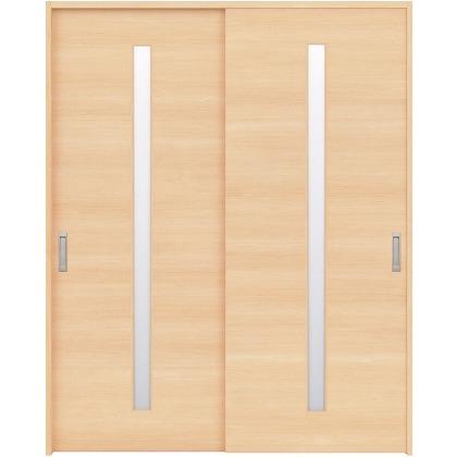 住友林業クレスト 引違い戸 スリット1枚ガラス横目 ベリッシュメイプル柄 枠外W1645×枠外H2300 HBAUK03HAM768J2S3 内装建具 1セット