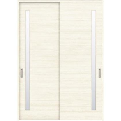 住友林業クレスト 引違い戸 サイドスリット1枚ガラス横目 ベリッシュホワイト柄 枠外W1645×枠外H2032 HBATK05HAWC67J2S3 内装建具 1セット