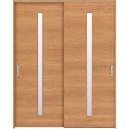 住友林業クレスト 引違い戸 スリット1枚ガラス横目 ベリッシュチェリー柄 枠外W1645×枠外H2032 HBAUK03HACA67J2S3 内装建具 1セット