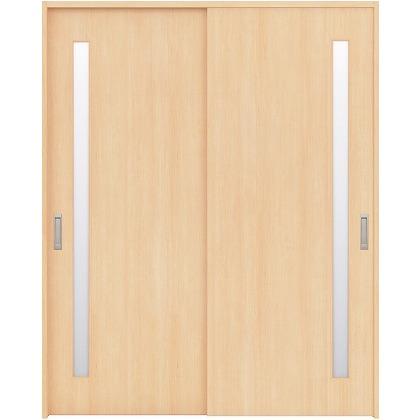 住友林業クレスト 引違い戸 サイドスリット1枚ガラス縦目 ベリッシュメイプル柄 枠外W1645×枠外H2032 HBAUK04HAM767J2S3 内装建具 1セット