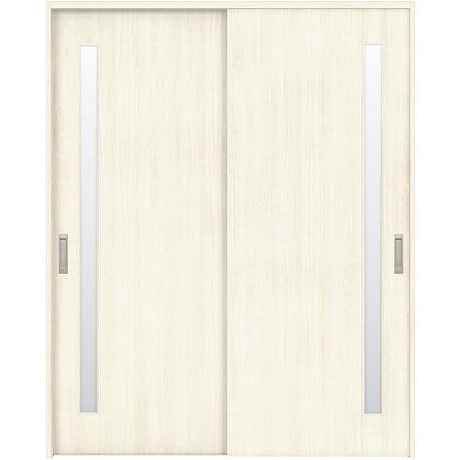 住友林業クレスト 引違い戸 サイドスリット1枚ガラス縦目 ベリッシュホワイト柄 枠外W1645×枠外H2300 HBAUK04HAWB68J2S3 内装建具 1セット