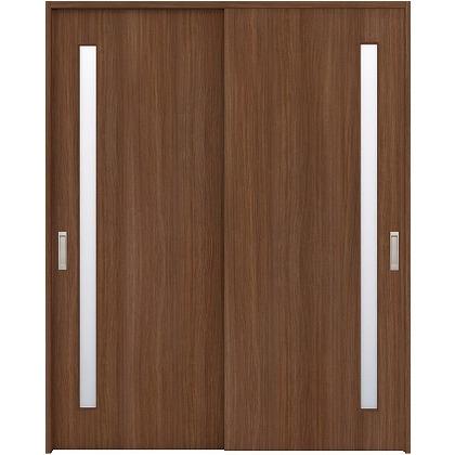 住友林業クレスト 引違い戸 サイドスリット1枚ガラス縦目 ベリッシュウォルナット柄 枠外W1645×枠外H2300 HBAUK04HAUD68J2S3 内装建具 1セット