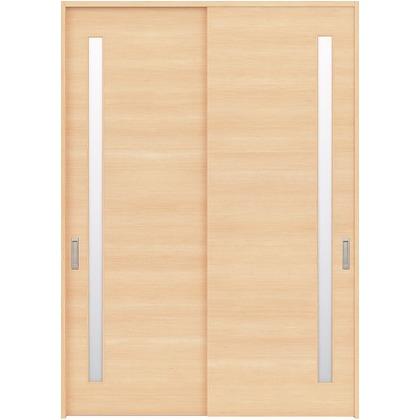 住友林業クレスト 引違い戸 サイドスリット1枚ガラス横目 ベリッシュメイプル柄 枠外W1645×枠外H2300 HBAUK05HAMB68J2S3 内装建具 1セット