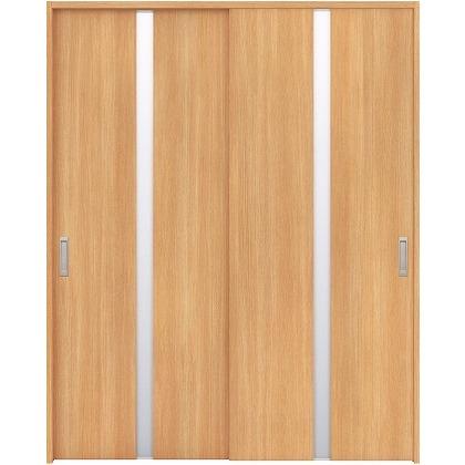 住友林業クレスト 引違い戸 センタースリットガラス縦目 ベリッシュオーク柄 枠外W1645×枠外H2032 HBAUK08HAAB67J2S3 内装建具 1セット