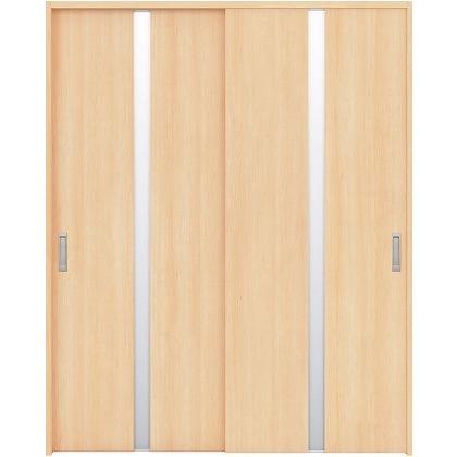 住友林業クレスト 引違い戸 センタースリットガラス縦目 ベリッシュメイプル柄 枠外W1645×枠外H2032 HBAUK08HAM567J2S3 内装建具 1セット
