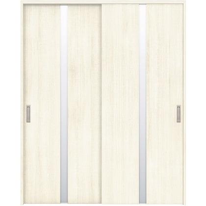 住友林業クレスト 引違い戸 センタースリットガラス縦目 ベリッシュホワイト柄 枠外W1645×枠外H2300 HBAUK08HAW768J2S3 内装建具 1セット