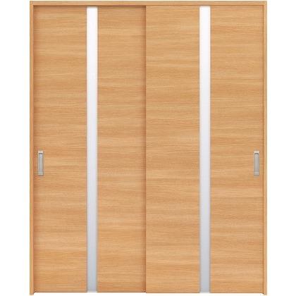 住友林業クレスト 引違い戸 センタースリットガラス横目 ベリッシュオーク柄 枠外W1645×枠外H2300 HBAUK09HAAA68J2S3 内装建具 1セット
