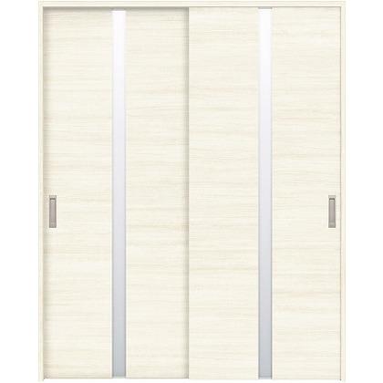 住友林業クレスト 引違い戸 センタースリットガラス横目 ベリッシュホワイト柄 枠外W1645×枠外H2300 HBAUK09HAW868J2S3 内装建具 1セット