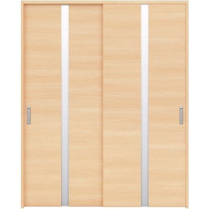 住友林業クレスト 引違い戸 センタースリットガラス横目 ベリッシュメイプル柄 枠外W1645×枠外H2300 HBAUK09HAM868J2S3 内装建具 1セット