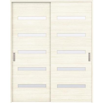 住友林業クレスト 引違い戸 横ガラス ベリッシュホワイト柄 枠外W1645×枠外H2032 HBAUK14HAWE67J2S3 内装建具 1セット