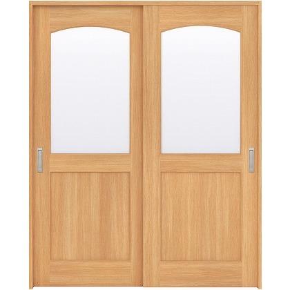 住友林業クレスト 引違い戸 アールガラス ベリッシュオーク柄 枠外W1645×枠外H2032 HBATK27HAAC67J2S3 内装建具 1セット