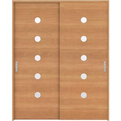 住友林業クレスト 引違い戸 丸窓付パネル ベリッシュチェリー柄 枠外W1645×枠外H2032 HBAUK12HACC67J2S3 内装建具 1セット