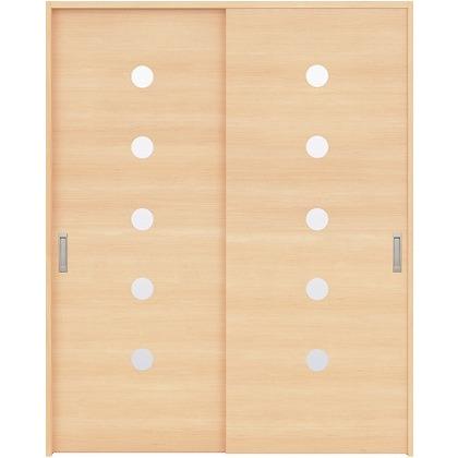 住友林業クレスト 引違い戸 丸窓付パネル ベリッシュメイプル柄 枠外W1645×枠外H2032 HBAUK12HAM767J2S3 内装建具 1セット