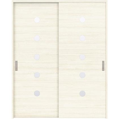 住友林業クレスト 引違い戸 丸窓付パネル ベリッシュホワイト柄 枠外W1645×枠外H2300 HBAUK12HAWA68J2S3 内装建具 1セット