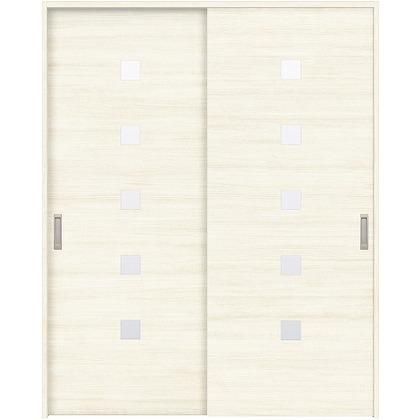 住友林業クレスト 引違い戸 角窓付パネル ベリッシュホワイト柄 枠外W1645×枠外H2032 HBAUK13HAWE67J2S3 内装建具 1セット