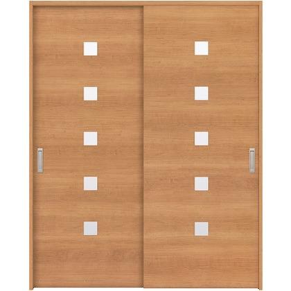 住友林業クレスト 引違い戸 角窓付パネル ベリッシュチェリー柄 枠外W1645×枠外H2032 HBAUK13HACA67J2S3 内装建具 1セット