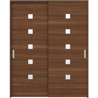 住友林業クレスト 引違い戸 角窓付パネル ベリッシュウォルナット柄 枠外W1645×枠外H2032 HBAUK13HAU567J2S3 内装建具 1セット