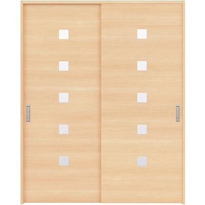住友林業クレスト 引違い戸 角窓付パネル ベリッシュメイプル柄 枠外W1645×枠外H2300 HBAUK13HAM768J2S3 内装建具 1セット