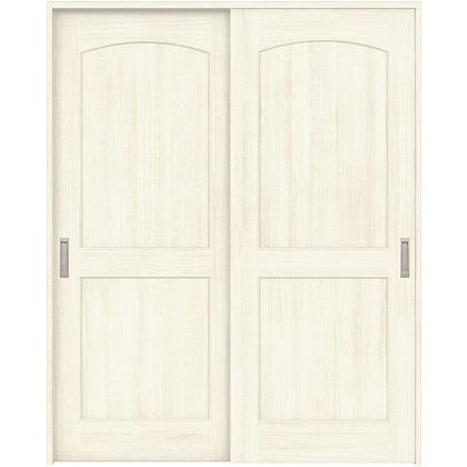 住友林業クレスト 引違い戸 アールパネル ベリッシュホワイト柄 枠外W1645×枠外H2032 HBAUK26HAW767J2S3 内装建具 1セット