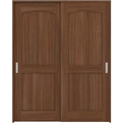 住友林業クレスト 引違い戸 アールパネル ベリッシュウォルナット柄 枠外W1645×枠外H2032 HBAUK26HAU567J2S3 内装建具 1セット