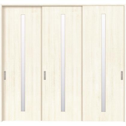 住友林業クレスト 長尺引き戸 スリット1枚ガラス縦目 ベリッシュホワイト柄 枠外W2439×枠外H2032 HBATK02HAWB237JS3 内装建具 1セット