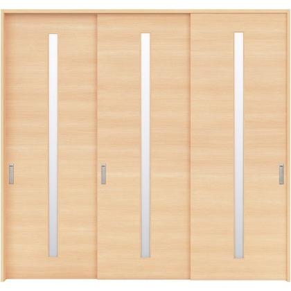 住友林業クレスト 長尺引き戸 スリット1枚ガラス横目 ベリッシュメイプル柄 枠外W2439×枠外H2032 HBATK03HAMB237JS3 内装建具 1セット