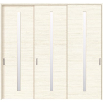 住友林業クレスト 長尺引き戸 スリット1枚ガラス横目 ベリッシュホワイト柄 枠外W2439×枠外H2300 HBATK03HAWB238JS3 内装建具 1セット