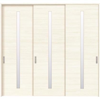 住友林業クレスト 長尺引き戸 スリット1枚ガラス横目 ベリッシュホワイト柄 枠外W2439×枠外H2300 HBATK03HAWE238JS3 内装建具 1セット
