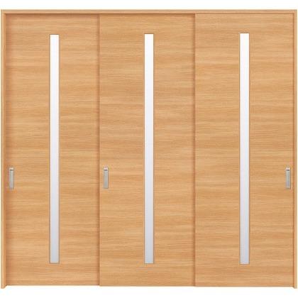 住友林業クレスト 長尺引き戸 スリット1枚ガラス横目 ベリッシュオーク柄 枠外W2439×枠外H2032 HBATK03HAA3737JS3 内装建具 1セット
