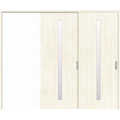 住友林業クレスト 長尺引き戸 スリット1枚ガラス縦目 ベリッシュホワイト柄 枠外W2439×枠外H2032 HBATK02HAW3747JS3R 内装建具 1セット