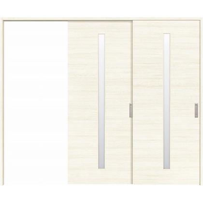 住友林業クレスト 長尺引き戸 サイドスリット1枚ガラス縦目 ベリッシュホワイト柄 枠外W2439×枠外H2032 HBATK04HAW3747JS3L 内装建具 1セット