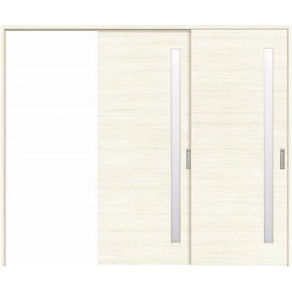 住友林業クレスト 長尺引き戸 サイドスリット1枚ガラス横目 ベリッシュホワイト柄 枠外W2439×枠外H2032 HBATK05HAW3747JS3R 内装建具 1セット
