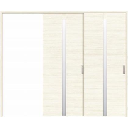 住友林業クレスト 長尺引き戸 センタースリットガラス横目 ベリッシュホワイト柄 枠外W2439×枠外H2032 HBATK09HAW3747JS3R 内装建具 1セット