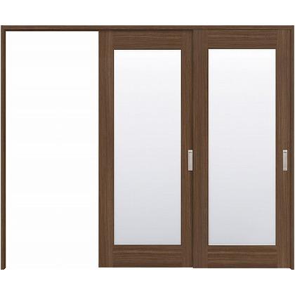 住友林業クレスト 長尺引き戸 1枚ガラス ベリッシュウォルナット柄 枠外W2439×枠外H2032 HBATK25HAUE247JS3L 内装建具 1セット