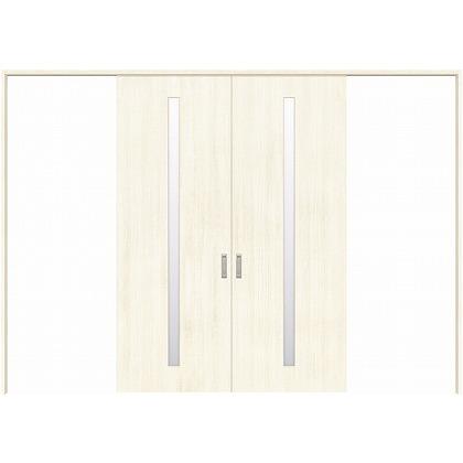 住友林業クレスト 長尺引き戸 スリット1枚ガラス縦目 ベリッシュホワイト柄 枠外W3259×枠外H2300 HBATK02HAWC258JS3 内装建具 1セット