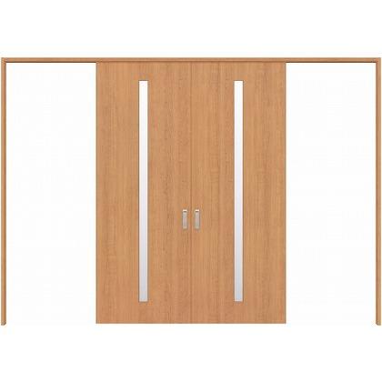 住友林業クレスト 長尺引き戸 スリット1枚ガラス縦目 ベリッシュチェリー柄 枠外W3259×枠外H2300 HBATK02HACE258JS3 内装建具 1セット