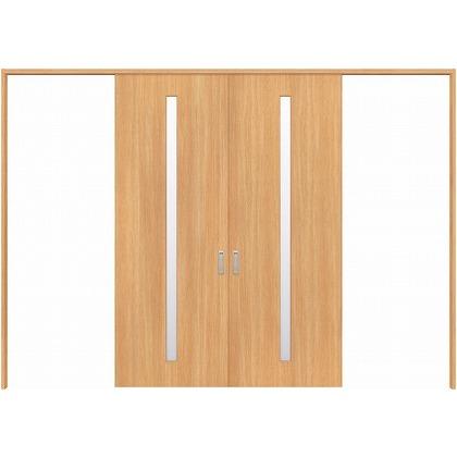 住友林業クレスト 長尺引き戸 スリット1枚ガラス縦目 ベリッシュオーク柄 枠外W3259×枠外H2300 HBATK02HAA3758JS3 内装建具 1セット