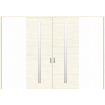 住友林業クレスト 長尺引き戸 スリット1枚ガラス横目 ベリッシュホワイト柄 枠外W3259×枠外H2032 HBATK03HAWC257JS3 内装建具 1セット