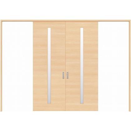 住友林業クレスト 長尺引き戸 サイドスリット1枚ガラス縦目 ベリッシュメイプル柄 枠外W3259×枠外H2300 HBATK04HAM3758JS3 内装建具 1セット