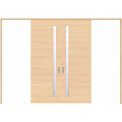 住友林業クレスト 長尺引き戸 サイドスリット1枚ガラス横目 ベリッシュメイプル柄 枠外W3259×枠外H2032 HBATK05HAMD257JS3 内装建具 1セット