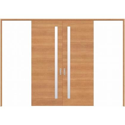 住友林業クレスト 長尺引き戸 サイドスリット1枚ガラス横目 ベリッシュチェリー柄 枠外W3259×枠外H2032 HBATK05HACD257JS3 内装建具 1セット